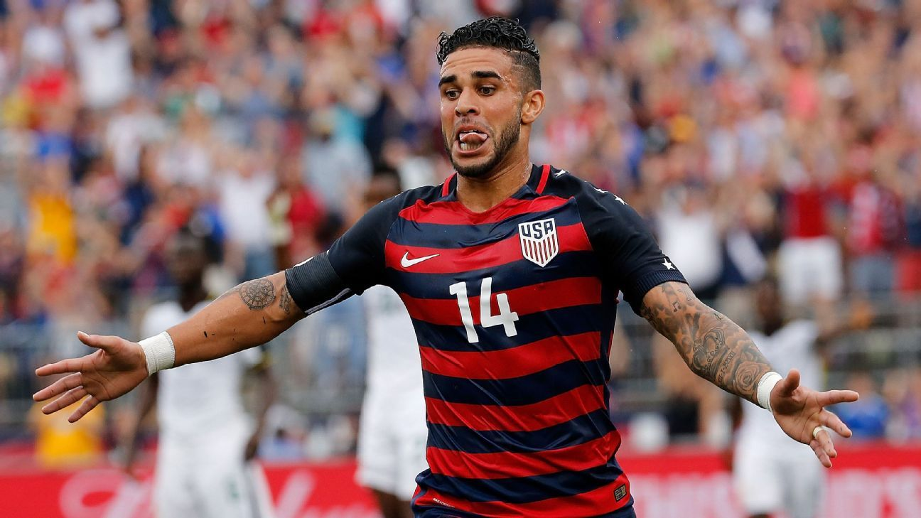 Dom Dwyer scored less than 20 minutes into his U.S. career.