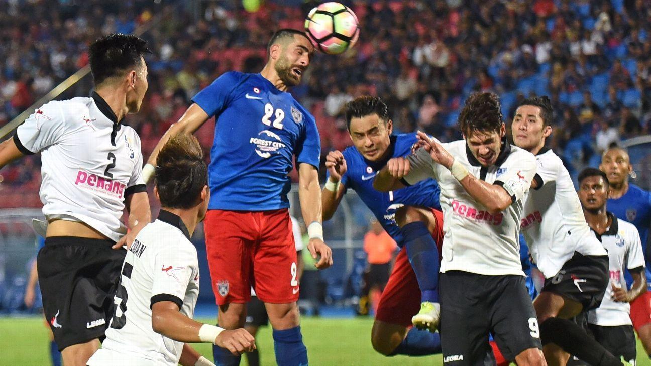 JDT striker Mohammed Ghaddar v Penang