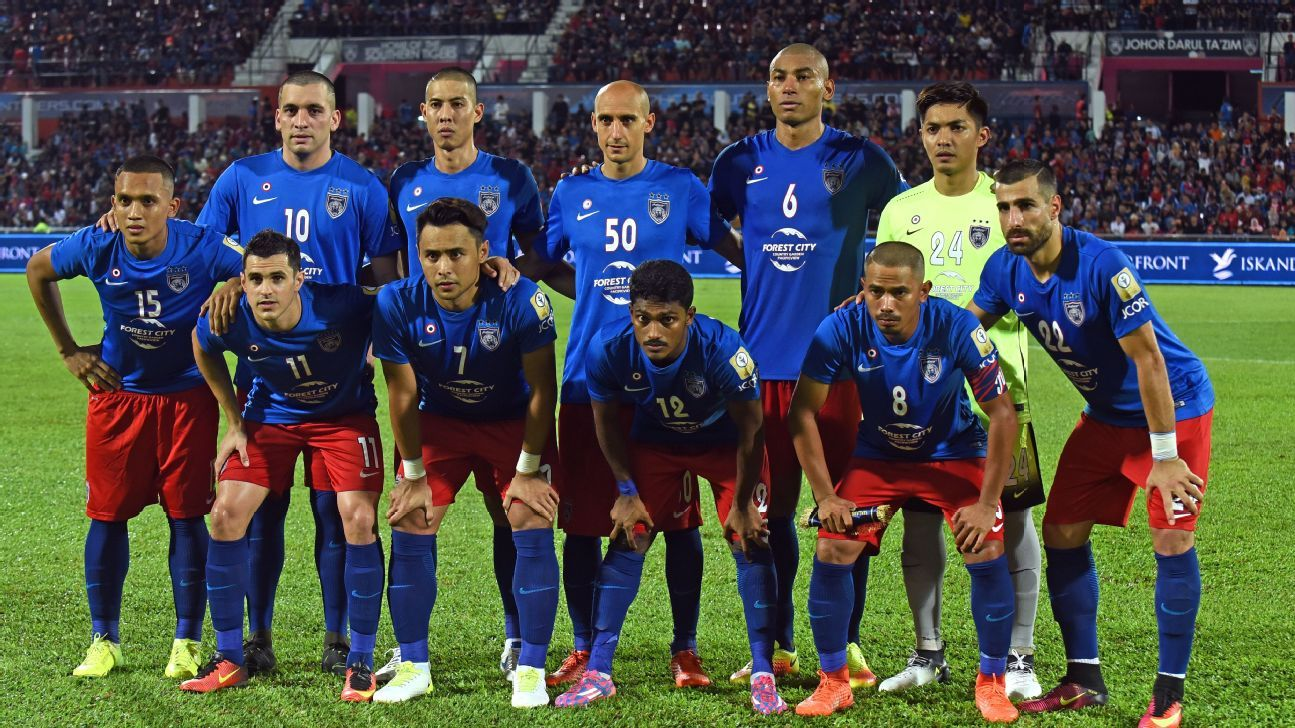 JDT starting side v Penang, July 2017