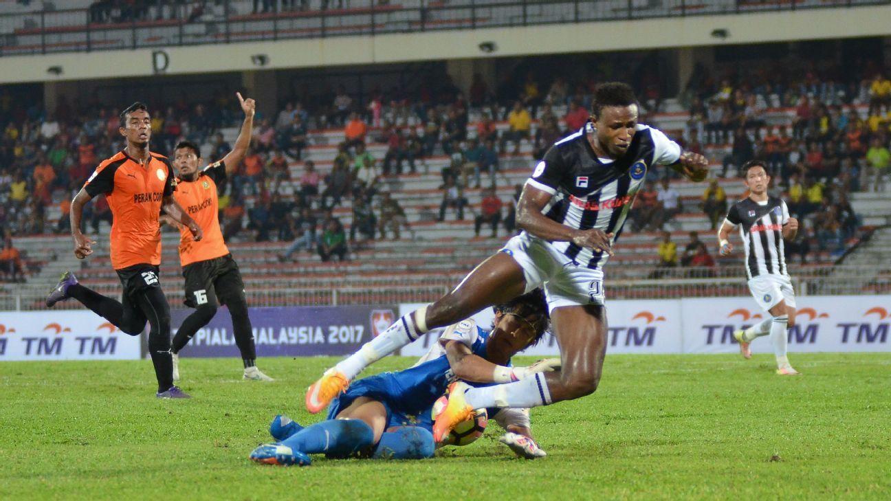 Pahang's Mohamadou Sumareh in 2017 Malaysia Cup