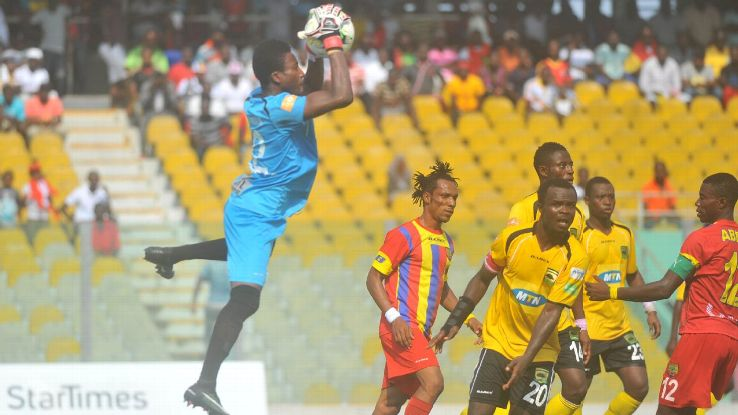 Asante Kotoko in action against Hearts of Oak