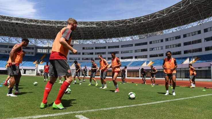 Arsenal training China