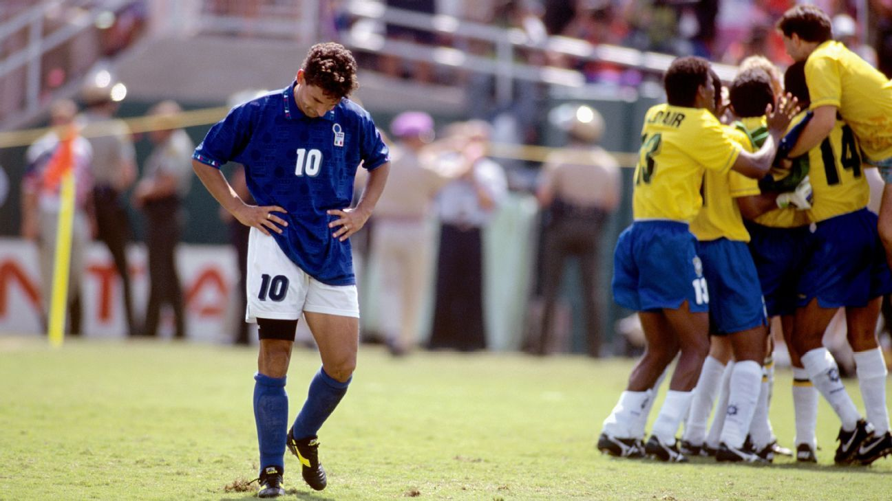 Roberto Baggio said his penalty miss in the 1994 final affected him for years.