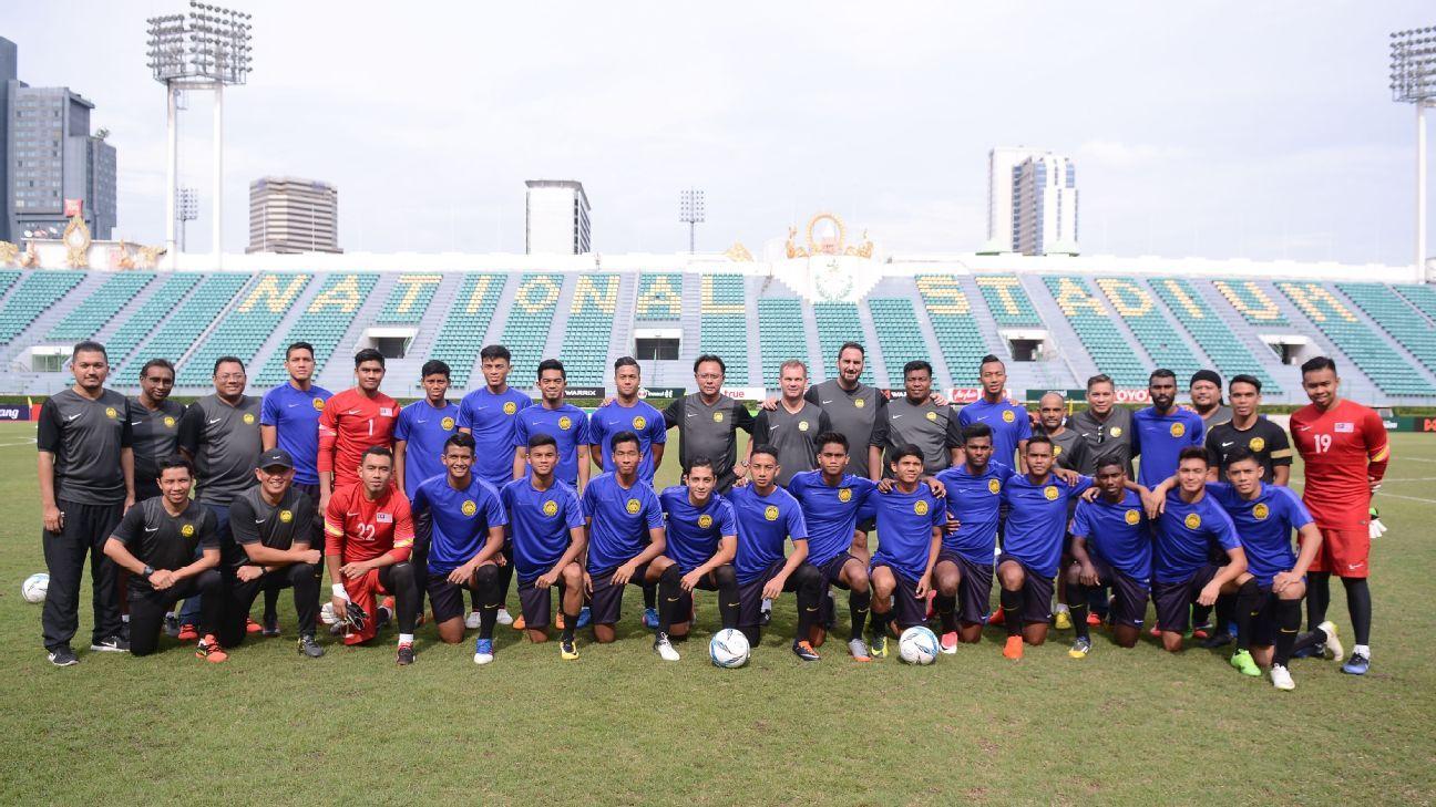 Malaysia U23 squad in Thailand