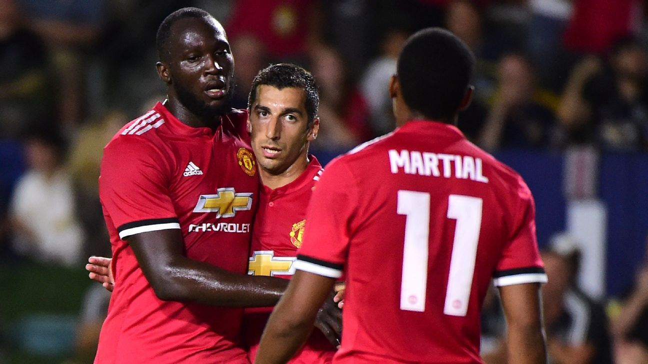 Lukaku and Mkhitaryan are up for Player of the Month.