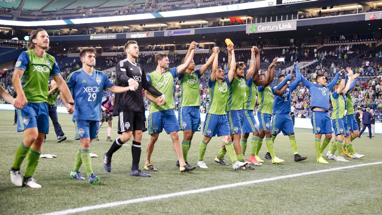 Seattle Sounders celebrate