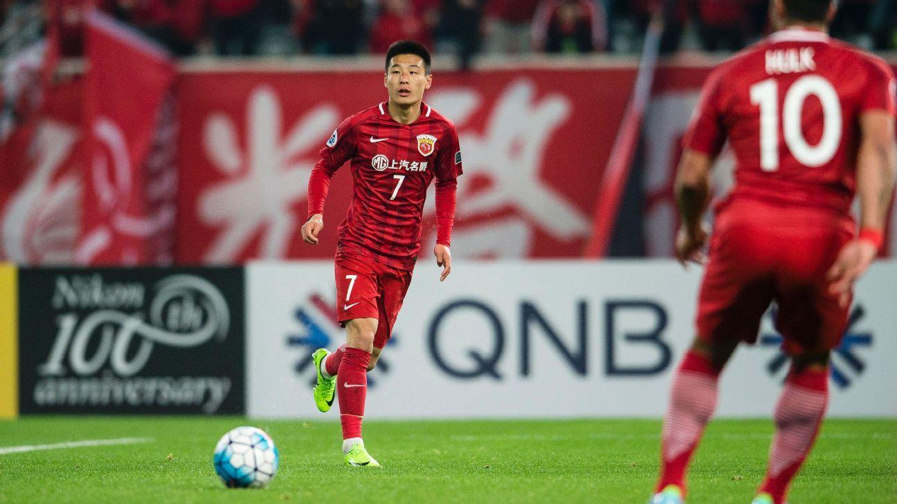 Shanghai SIPG Forward Wu Lei
