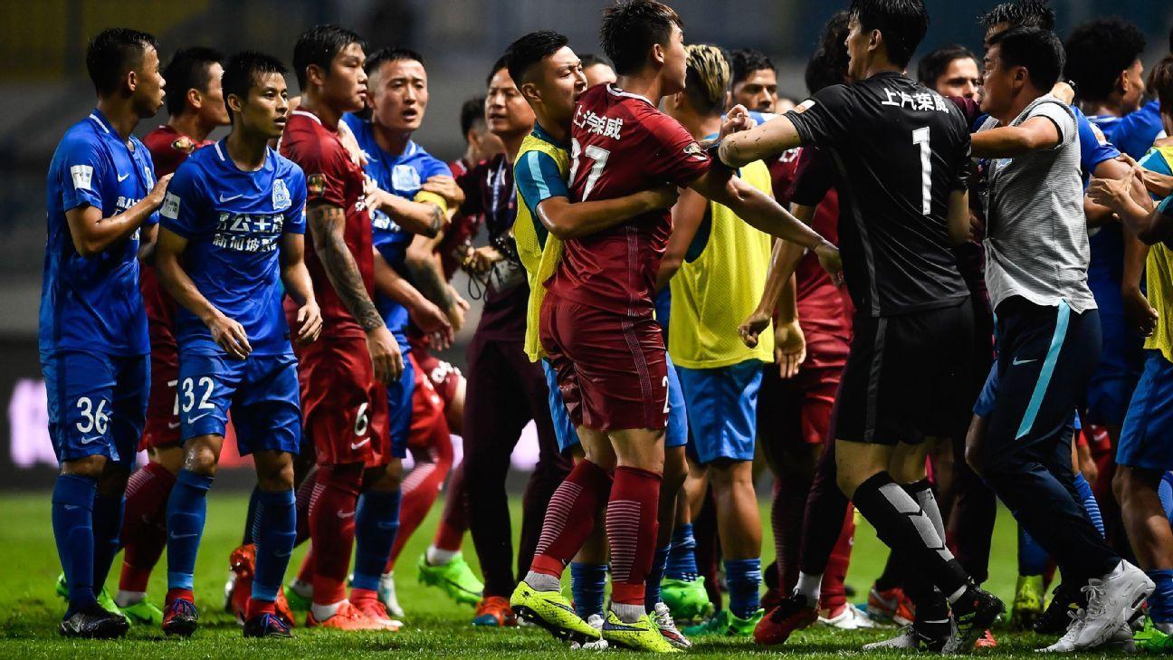 Shanghai SIPG brawl vs. R&F