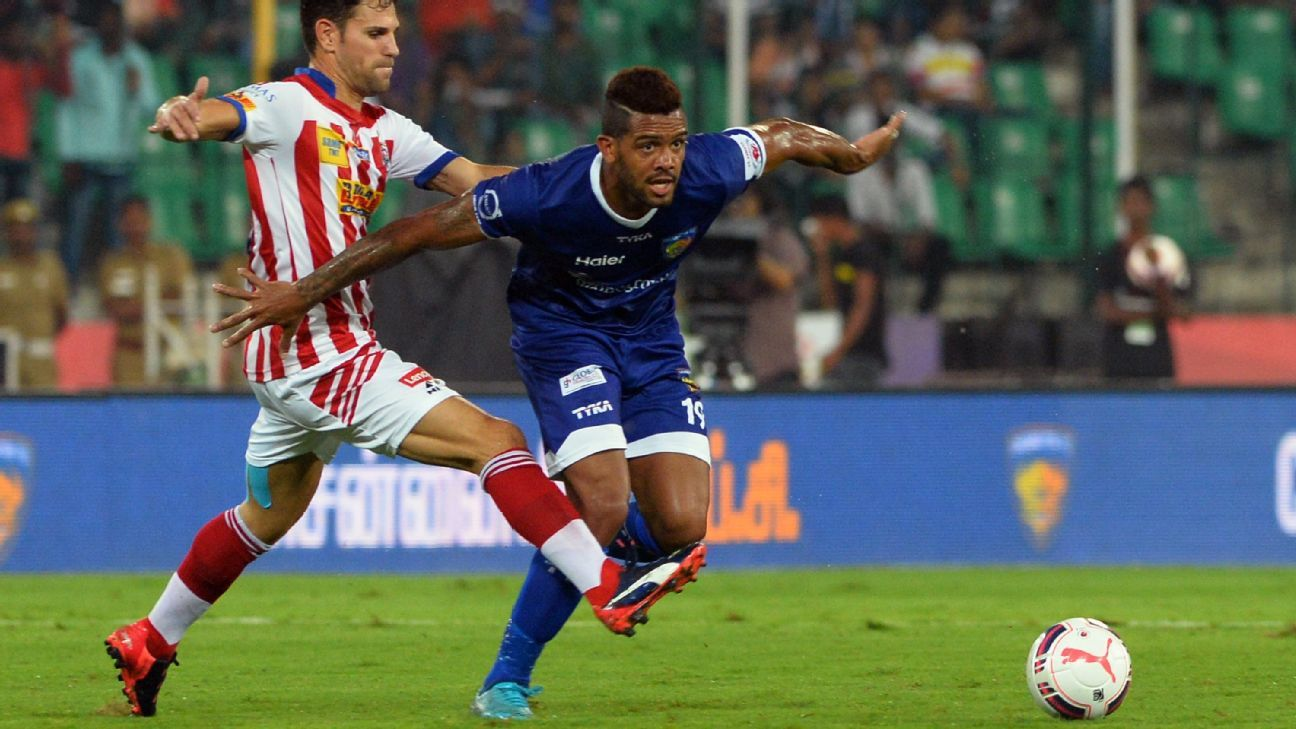 Raphael Augusto, right, was instrumental in Chennaiyin's run to the title in 2015.