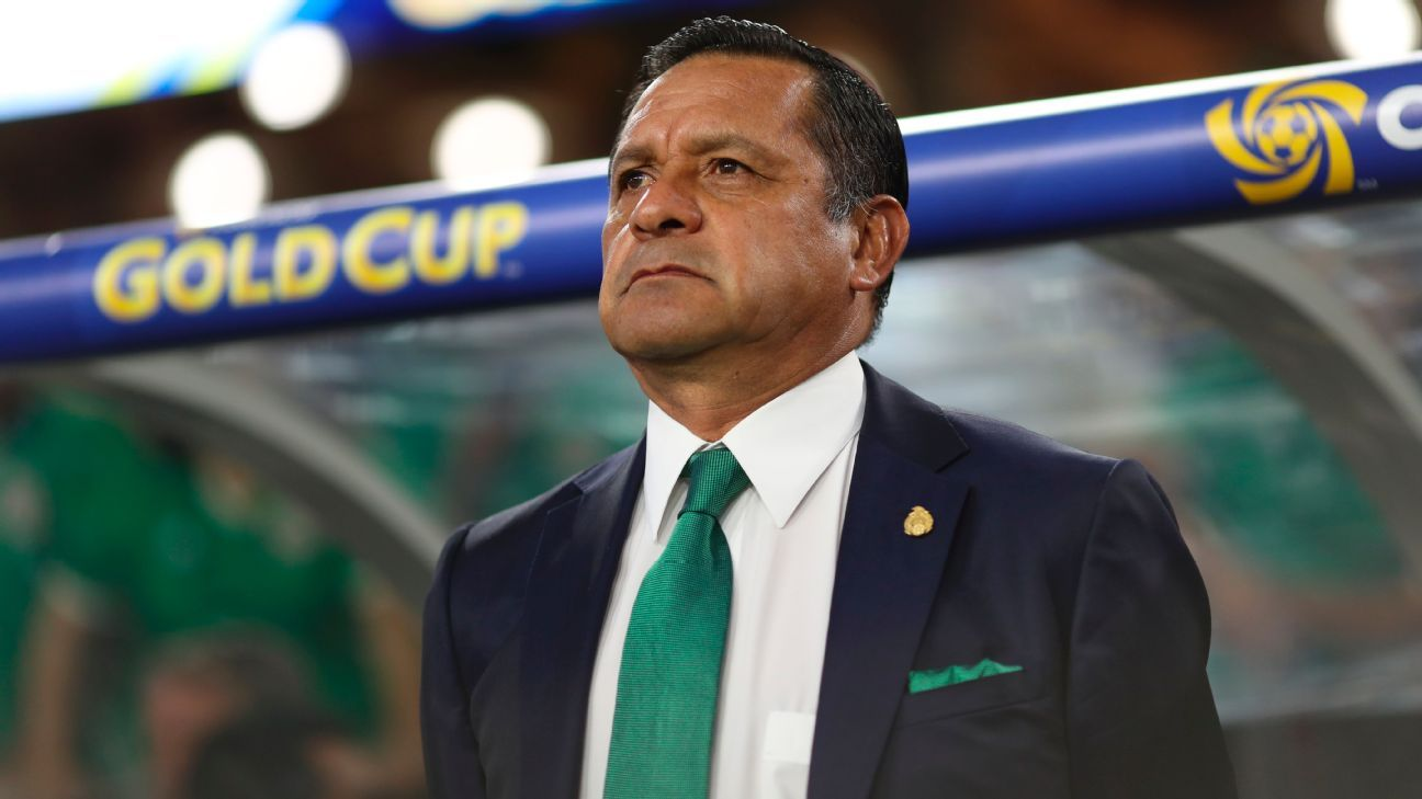 Pompilio Paez during the Gold Cup quarterfinal match between Mexico and Honduras.