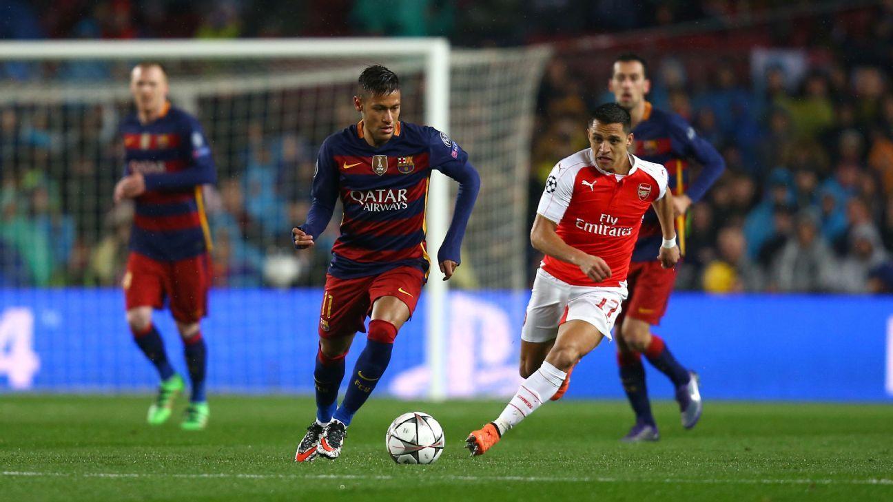 Neymar Alexis action in UCL