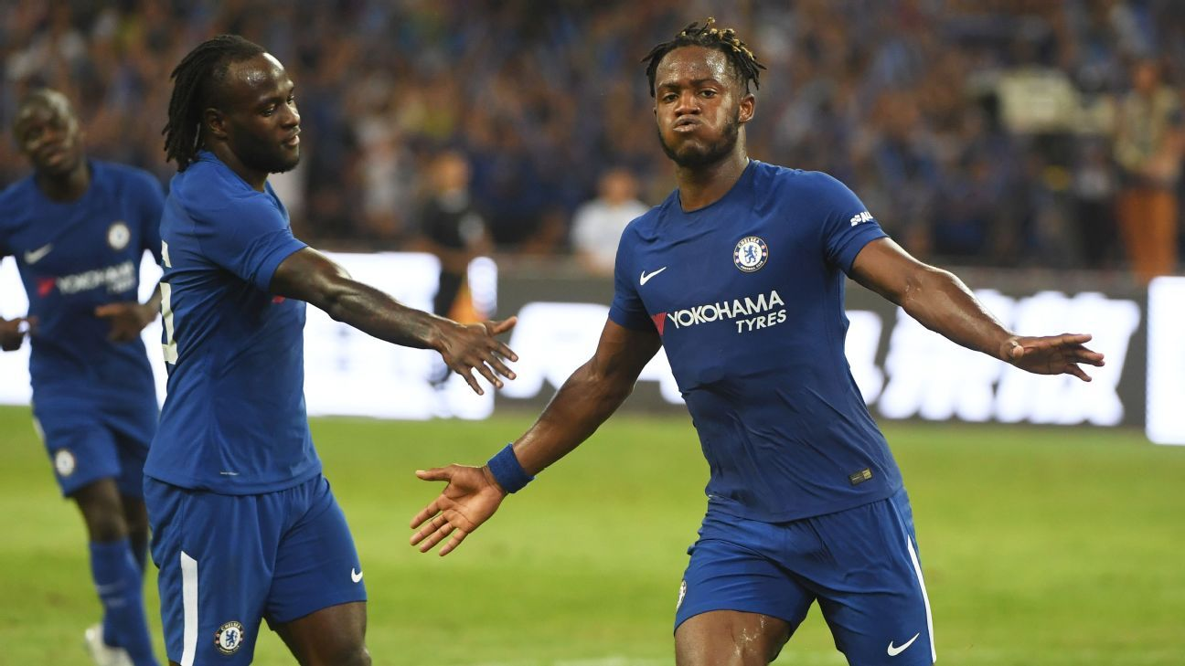 Michy Batshuayi scored two impressive strikes against Arsenal.