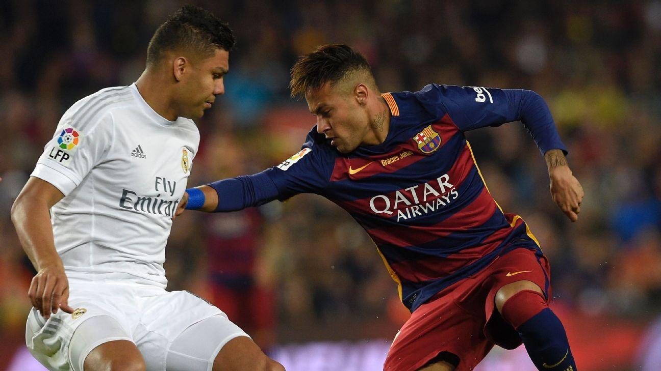 Neymar and Casemiro