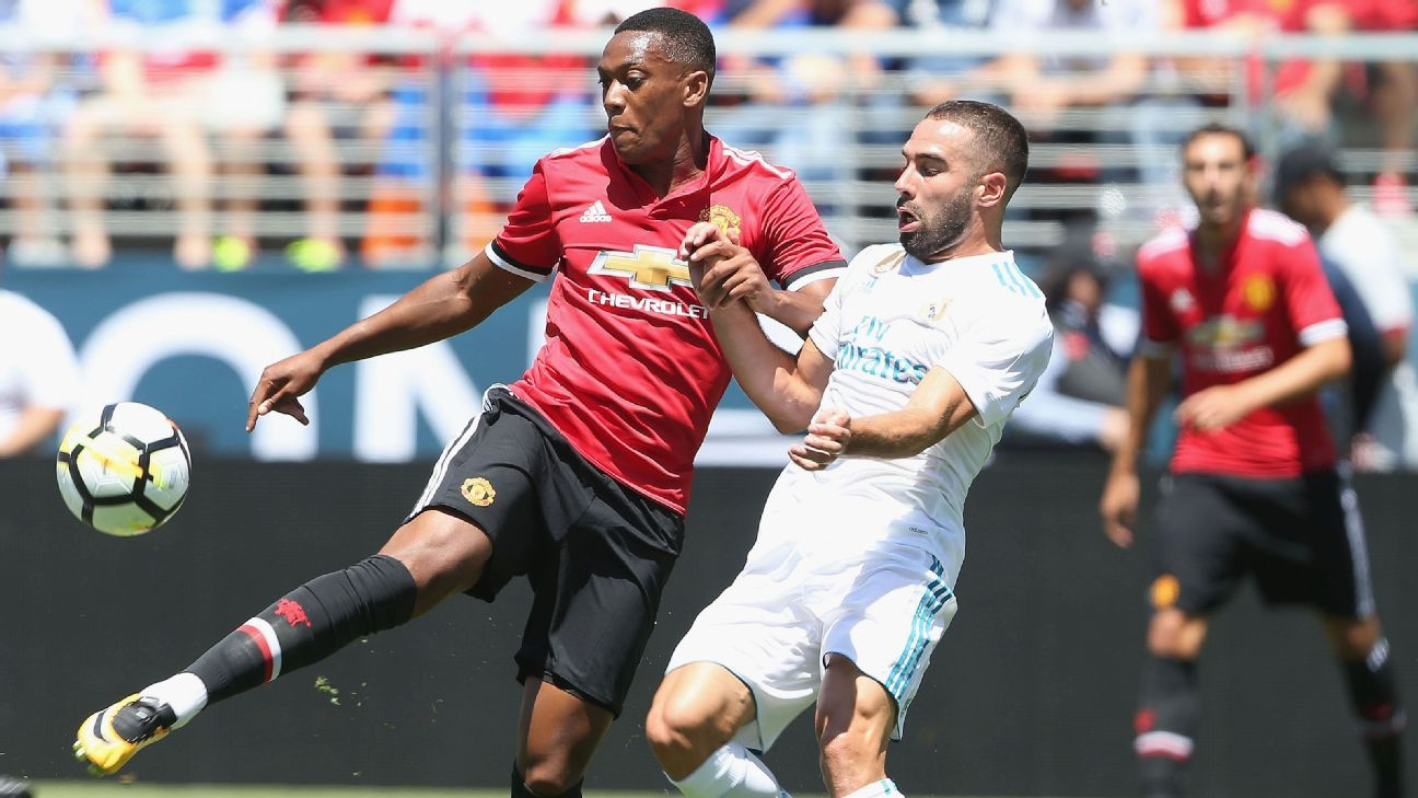 Real Madrid face Manchester United in the International Champions Cup.