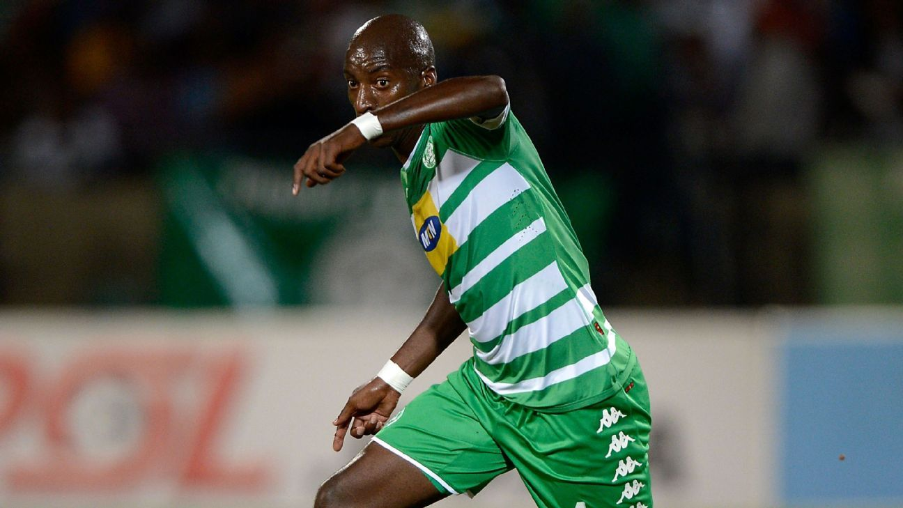 Musa Nyatama (Celtic) during the Absa Premiership 2016/17 game between Bloemfontein Celtic and Kaizer Chiefs  at Dr Molemela Stadium, Bloemfontein on April 12, 2017