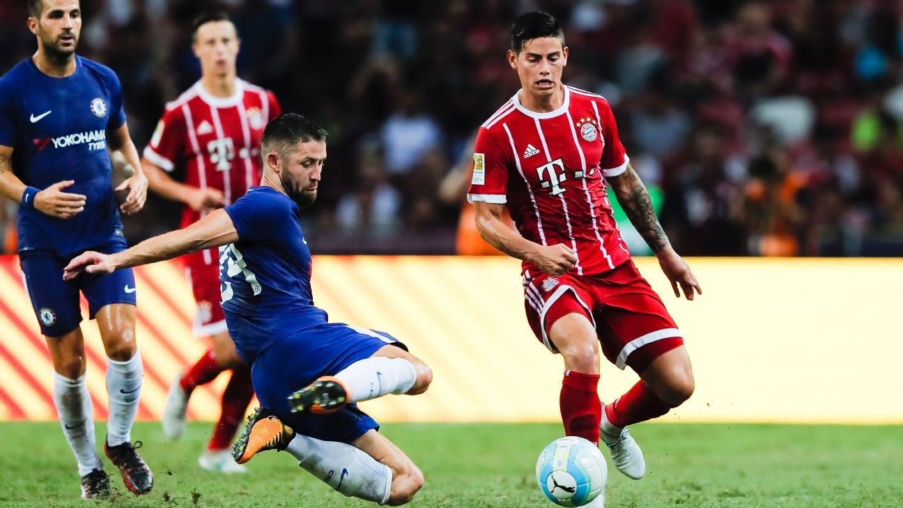 Gary Cahill & James Rodriguez