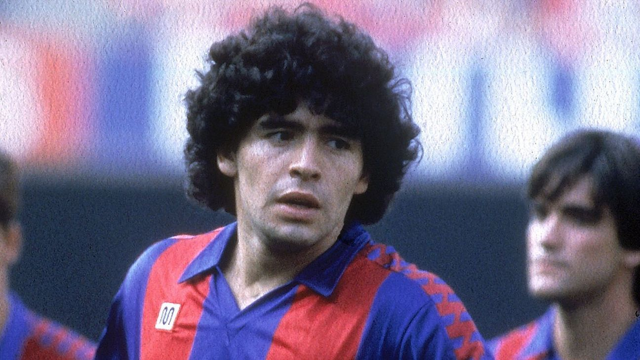 Diego Maradona spent two seasons at Barcelona, from 1982 to 1984.