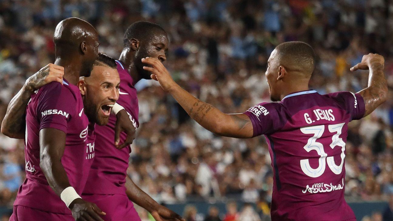 Manchester City celebrates