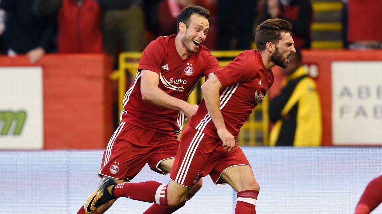 Shinnie hits winner as Aberdeen gain edge on Apollon Limassol