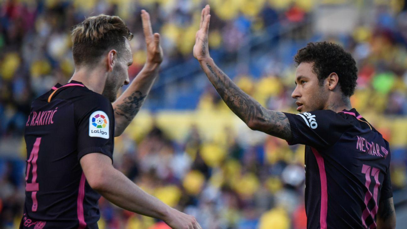 Neymar and Rakitic