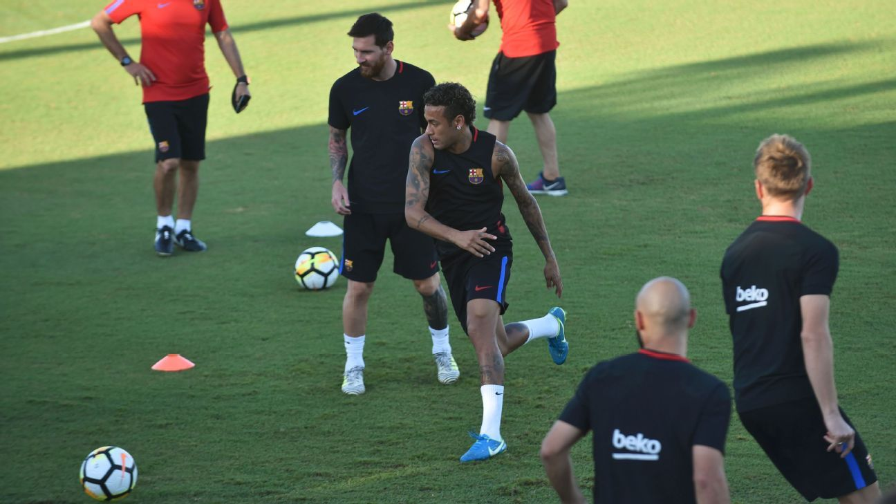 Neymar involved in Barcelona training bust-up amid proposed PSG move