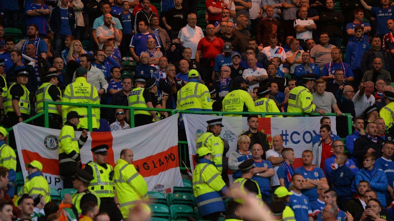 Celtic Linfield fan trouble