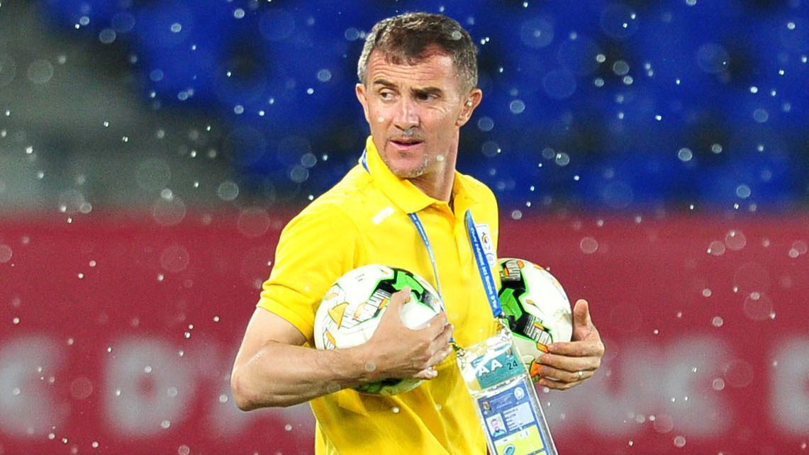 Milutin Sredojevic, coach of Uganda, during the 2017 Africa Cup of Nations