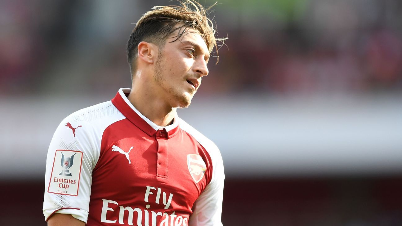 Mesut Ozil has endured a stop-start campaign at Arsenal.