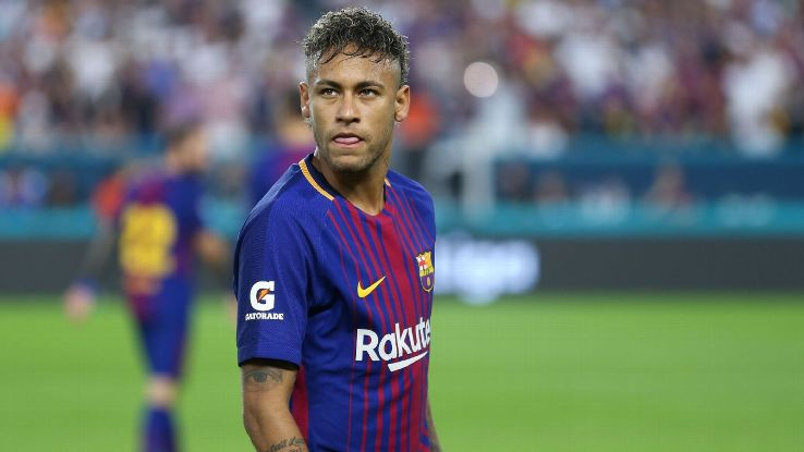 Neymar during Barcelona's preseason game against Real Madrid in Miami.
