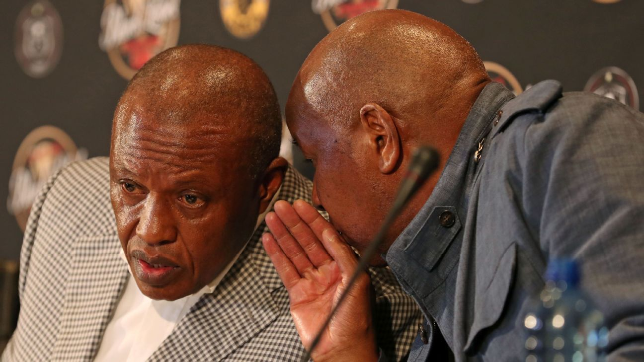 Irvin Khoza and Kaizer Motaung