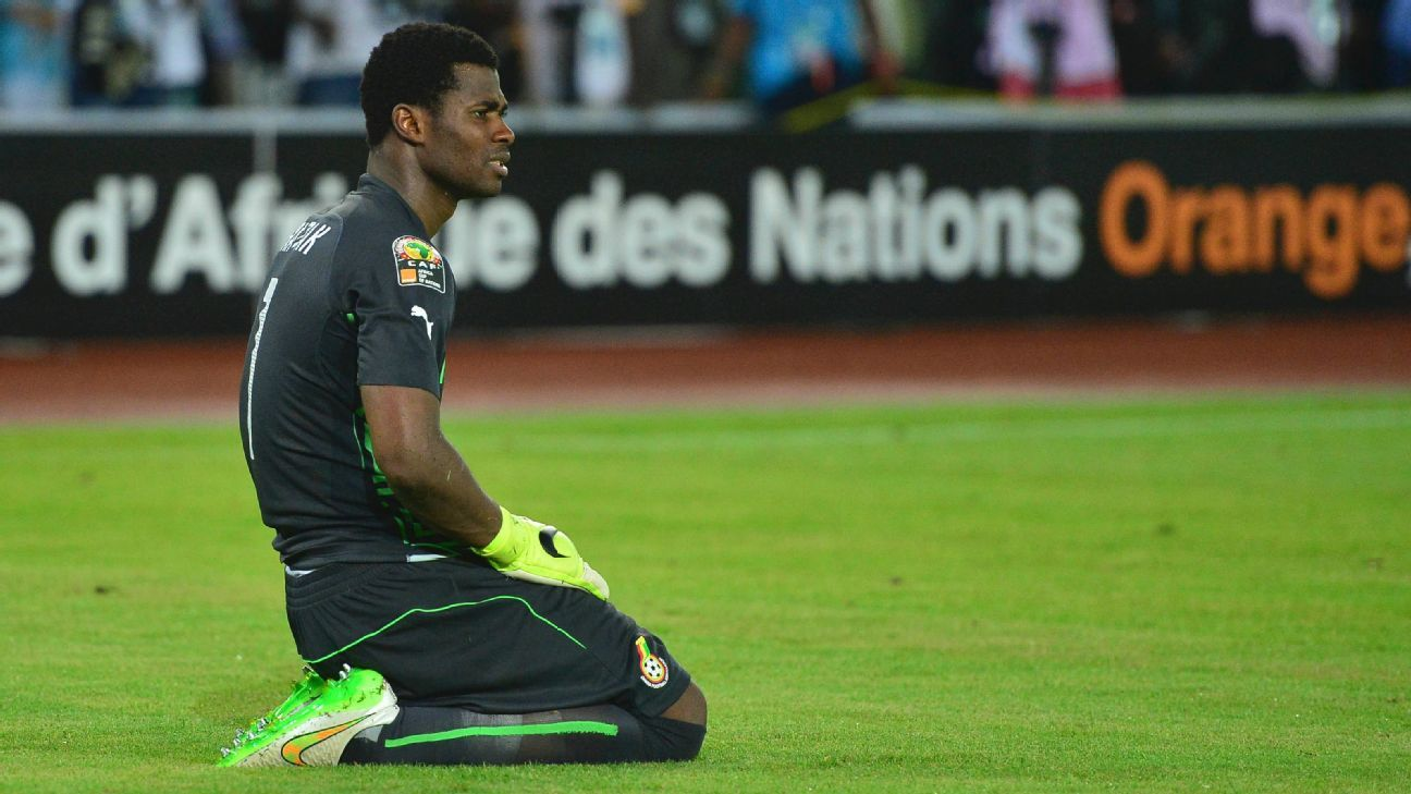 Razak Braimah of Ghana during the 2015 Africa Cup of Nations final.