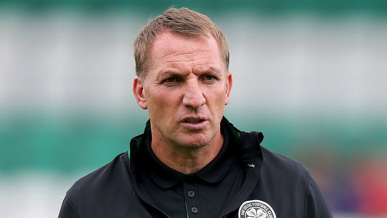 Brendan Rodgers has won the Scottish Premiership in each of his seasons in charge of Celtic.