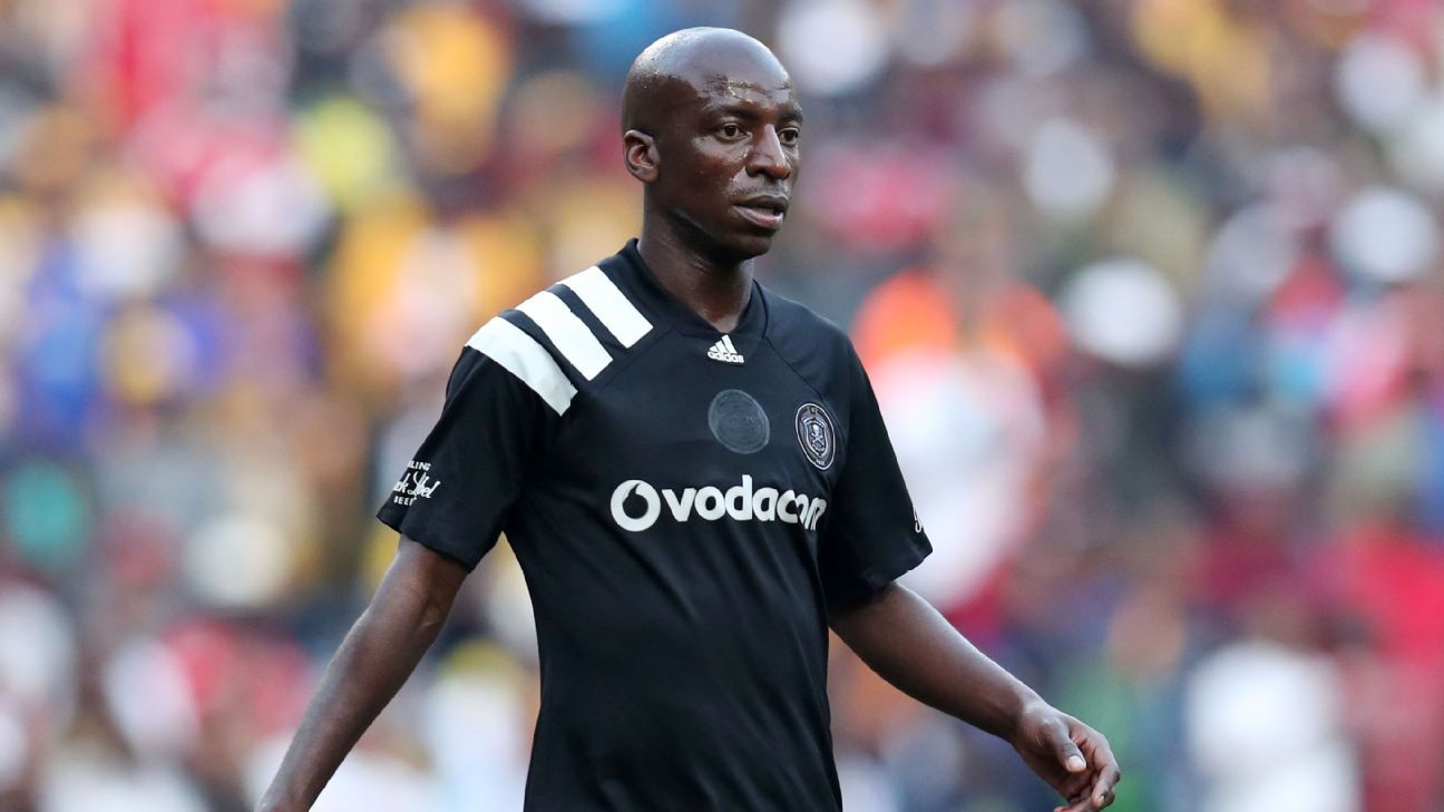 Musa Nyatama of Orlando Pirates during 2017 Carling Black Label Champion Cup match between Kaizer Chiefs and Orlando Pirates at FNB Stadium, Johannesburg South Africa on 29 July 2017.