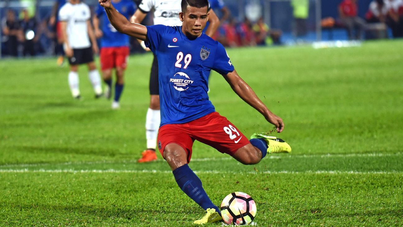 JDT attacker Safawi in 2017 Malaysia Cup
