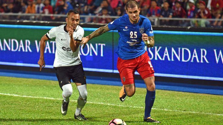 JDT defender Junior Eldstal in 2017 Malaysia Cup