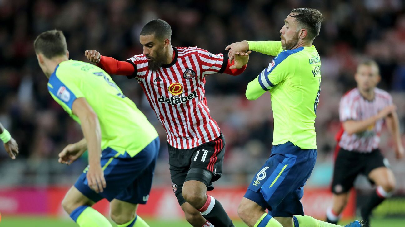 Lewis Grabban and Sunderland played to a draw with Derby.