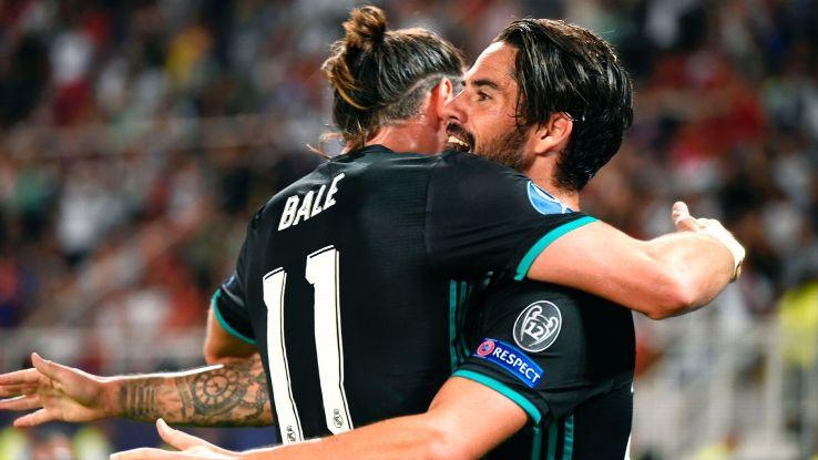Bale Isco celeb vs Man United 170808