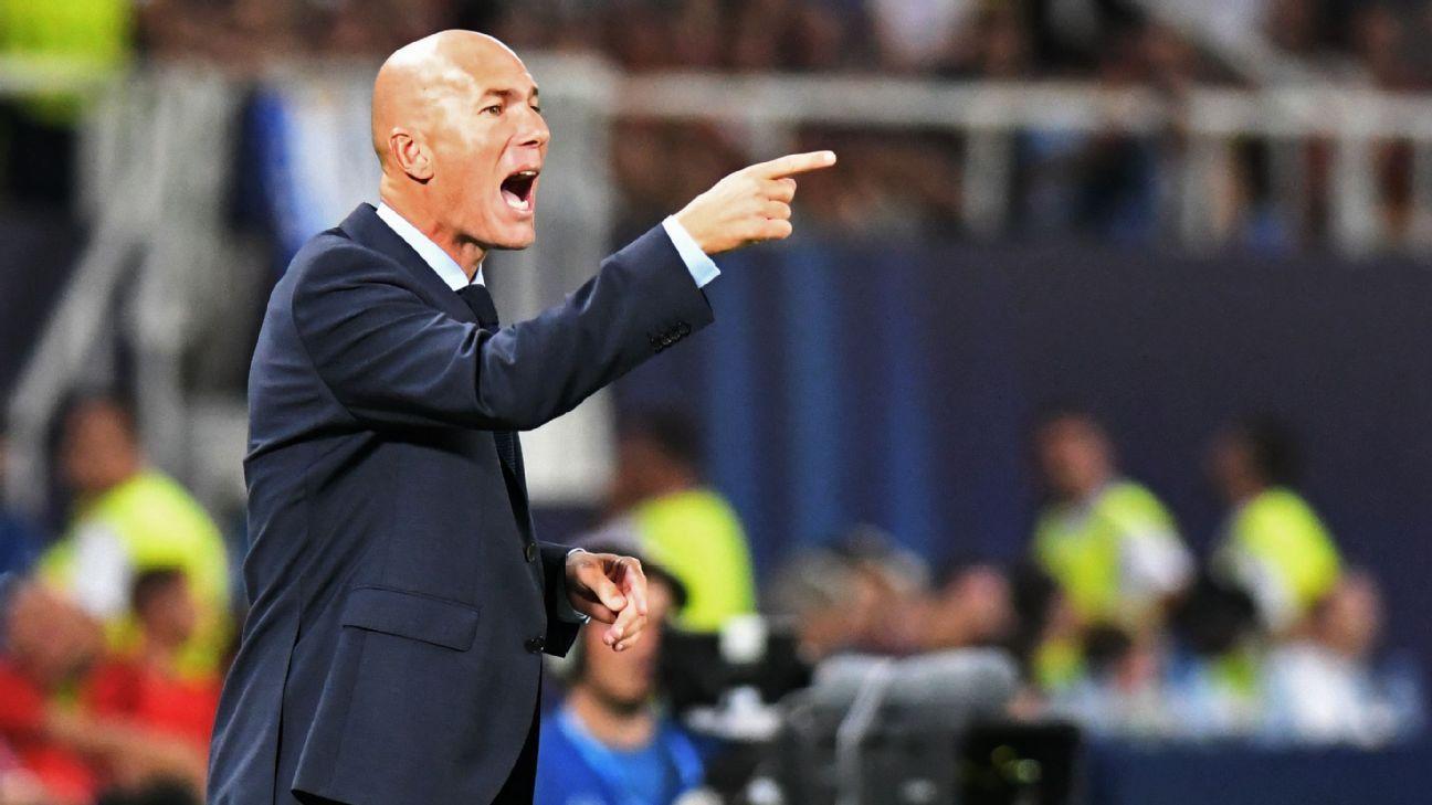 Zidane shouts sidelines vs United 170808