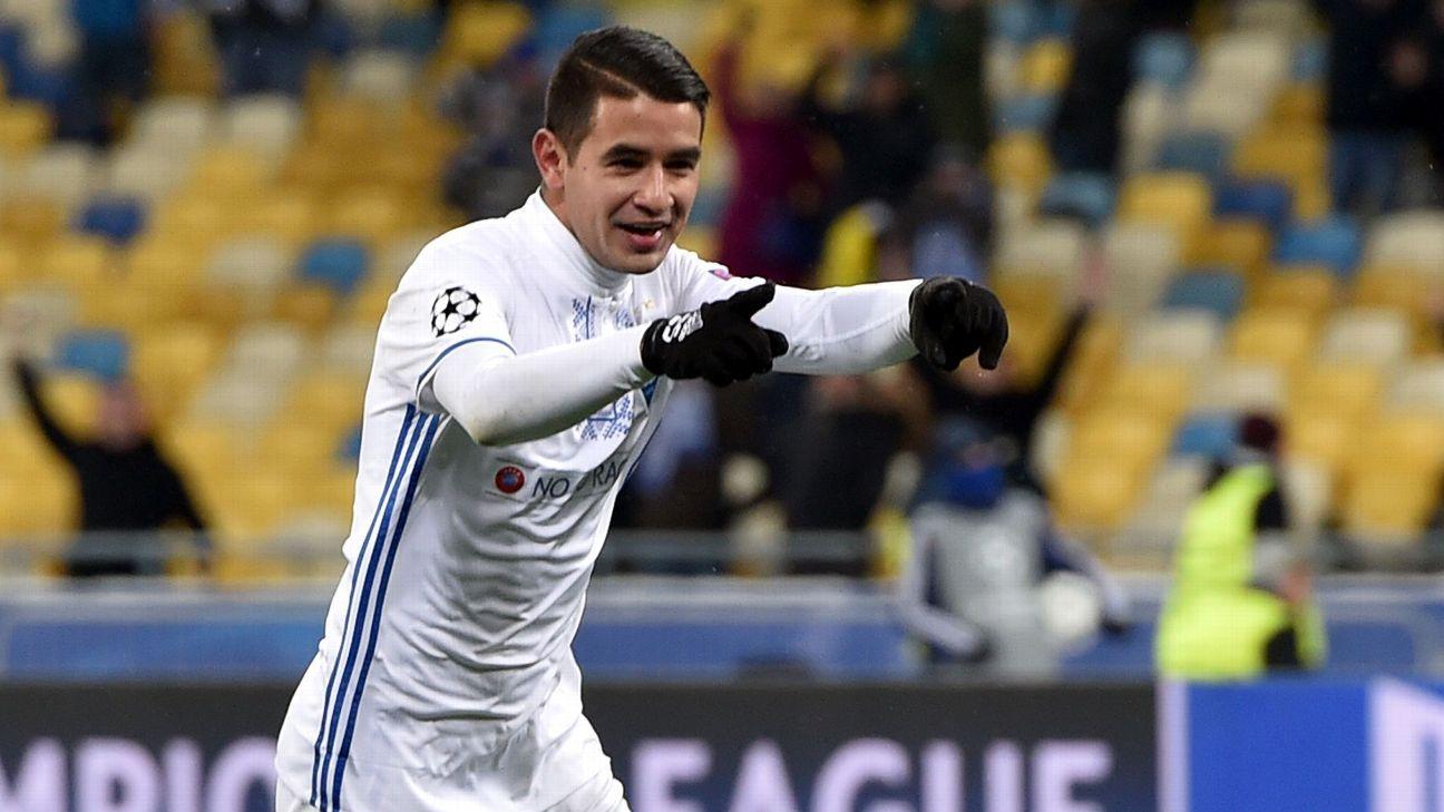 Derlis Gonzalez action Dynamo Kiev