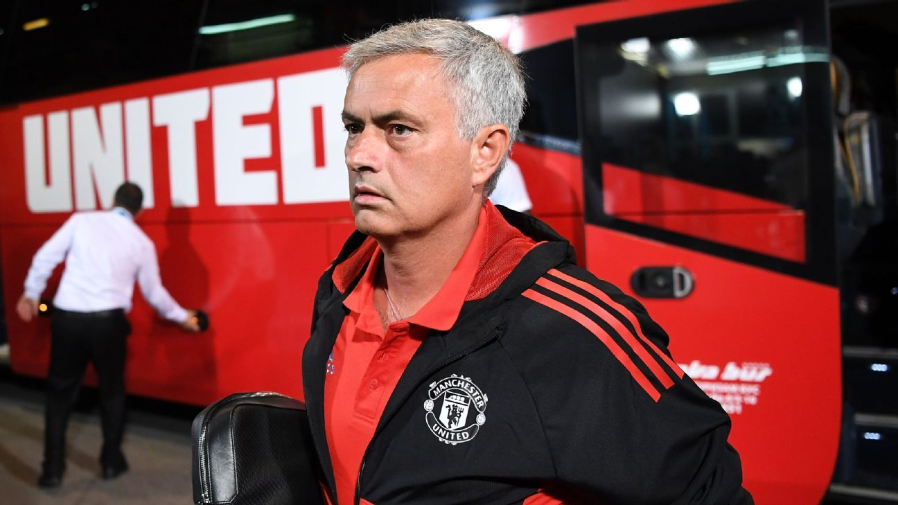 Jose Mourinho ahead of Manchester United's UEFA Super Cup game against Real Madrid.