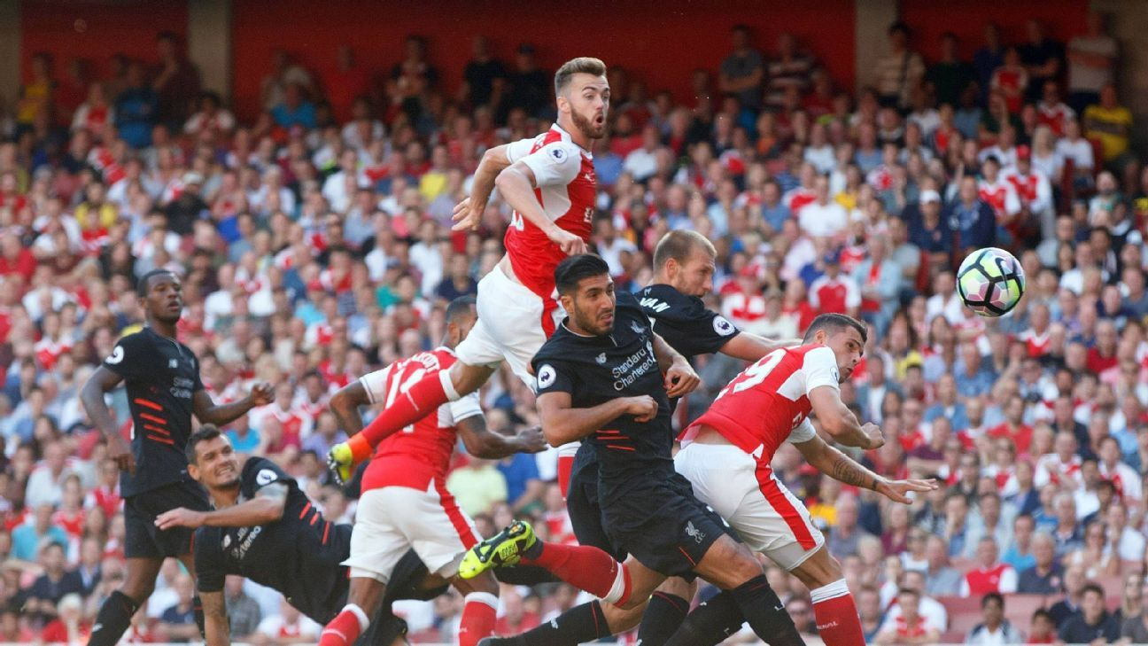 Calum Chambers scored late on a header but it wasn't enough in an opening loss against Liverpool a year ago.