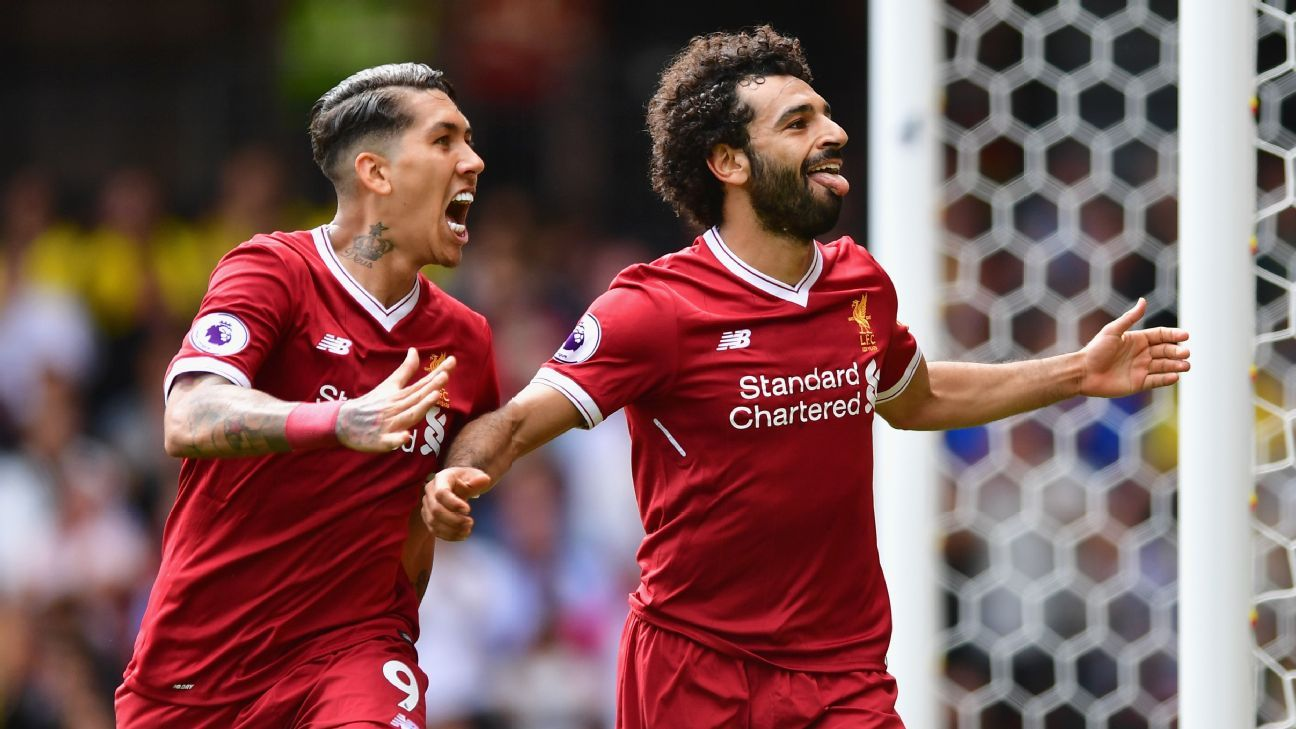 Roberto Firmino and Mohamed Salah have shone for Liverpool throughout 2017-18.