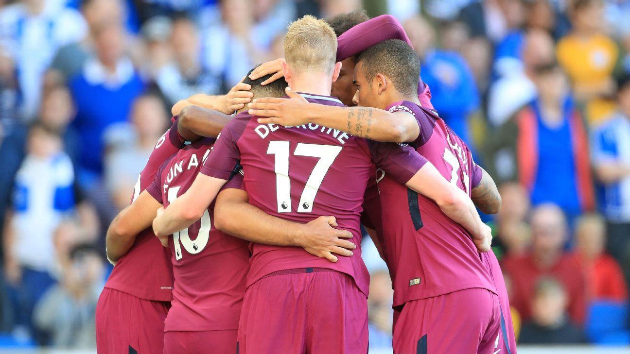 Man City celebrate