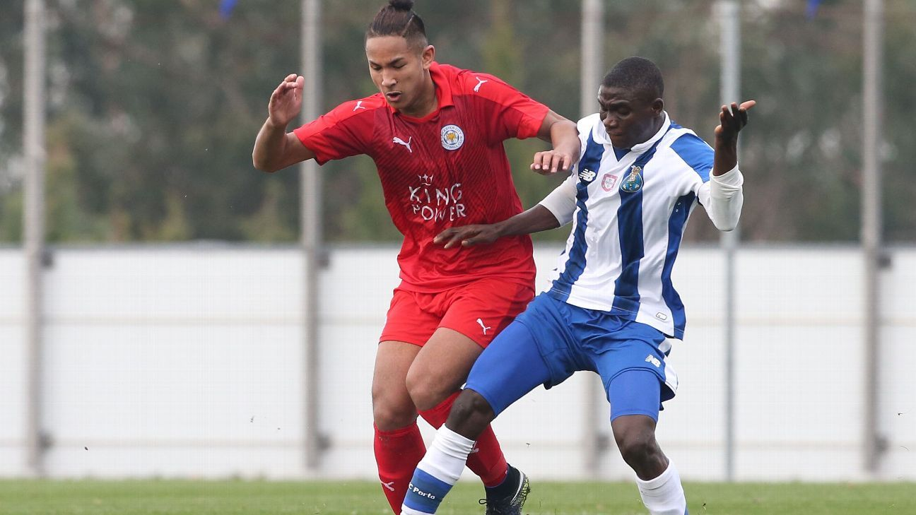 Brunei winger Faiq Bolkiah playing for Leicester City