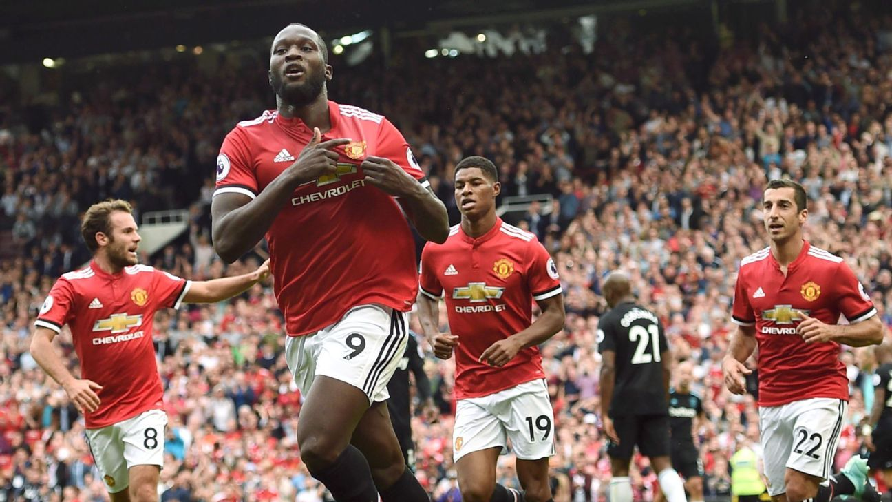 Romelu Lukaku enjoyed an impressive afternoon at Old Trafford.