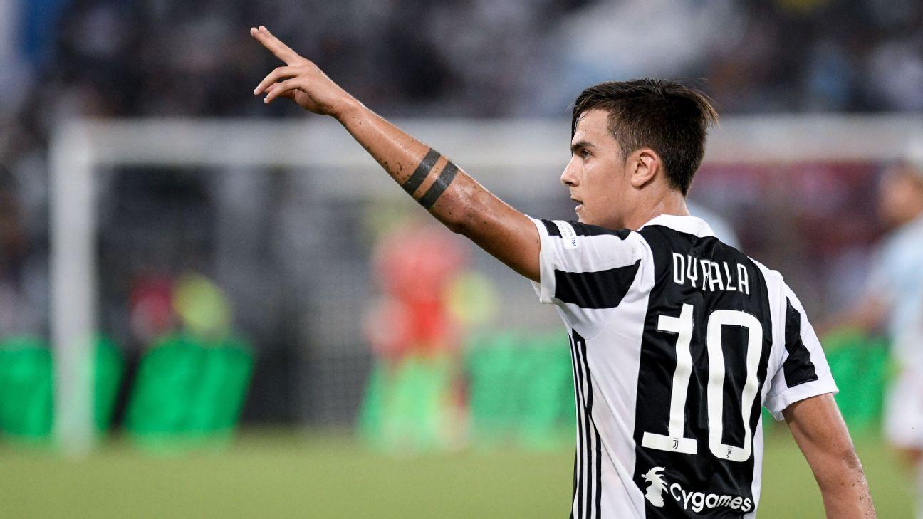 Dybala celeb vs Lazio Super Cup 170813