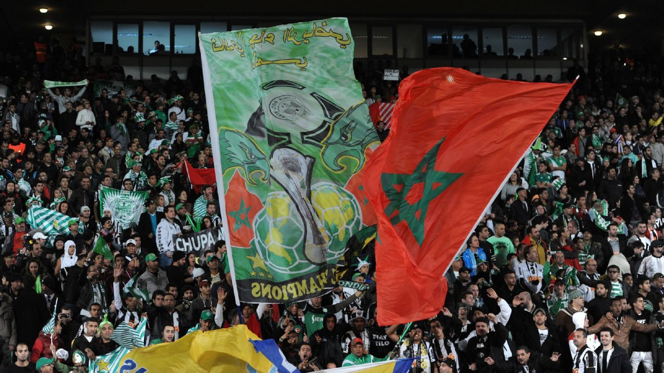 Raja Casablanca fans in Marrakech