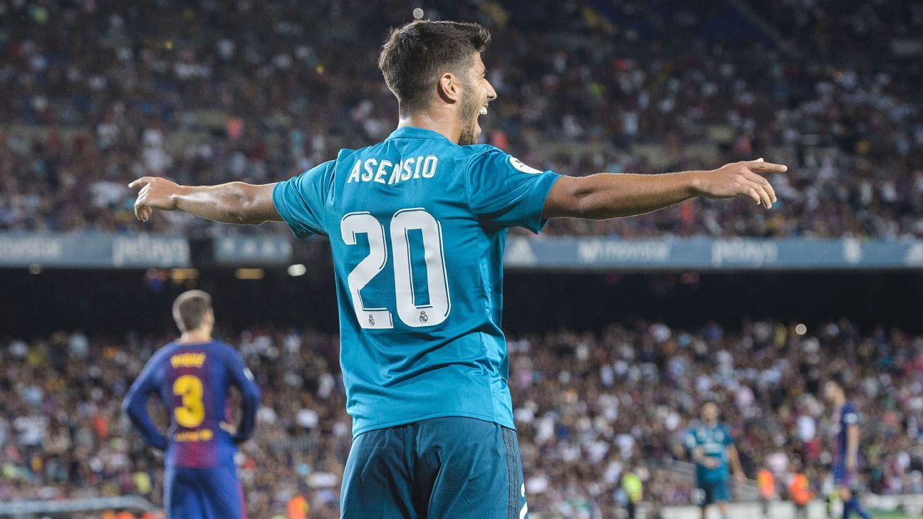 Marco How Real Madrid: history for  goals made Asensio Five