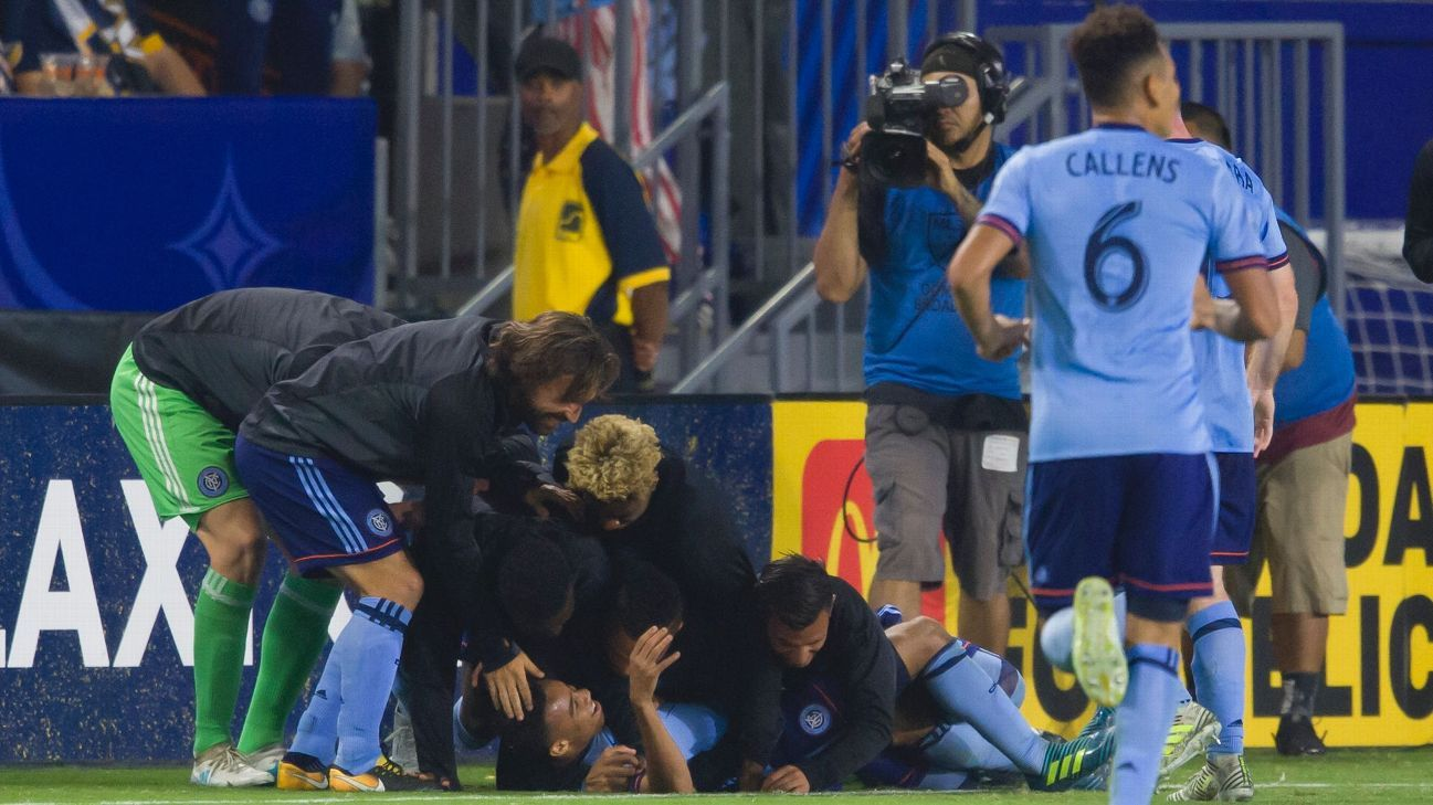 NYCFC hails rookie Jonathan Lewis after wonder strike for first pro goal