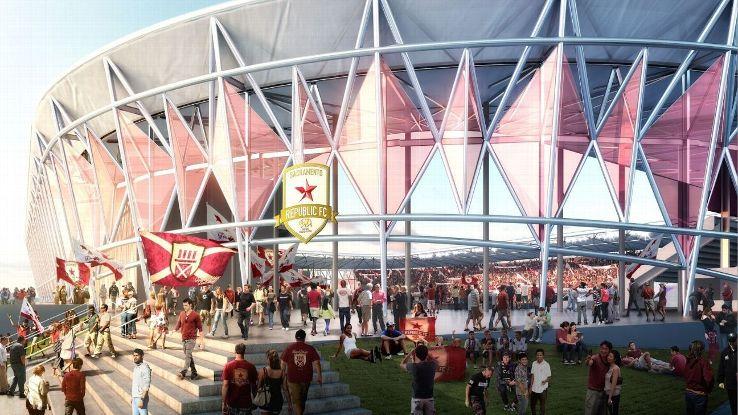 Sacramento MLS stadium rendering